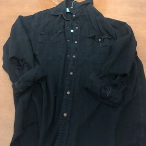 Urban Outfitters CPO Distressed Washed Black Denim